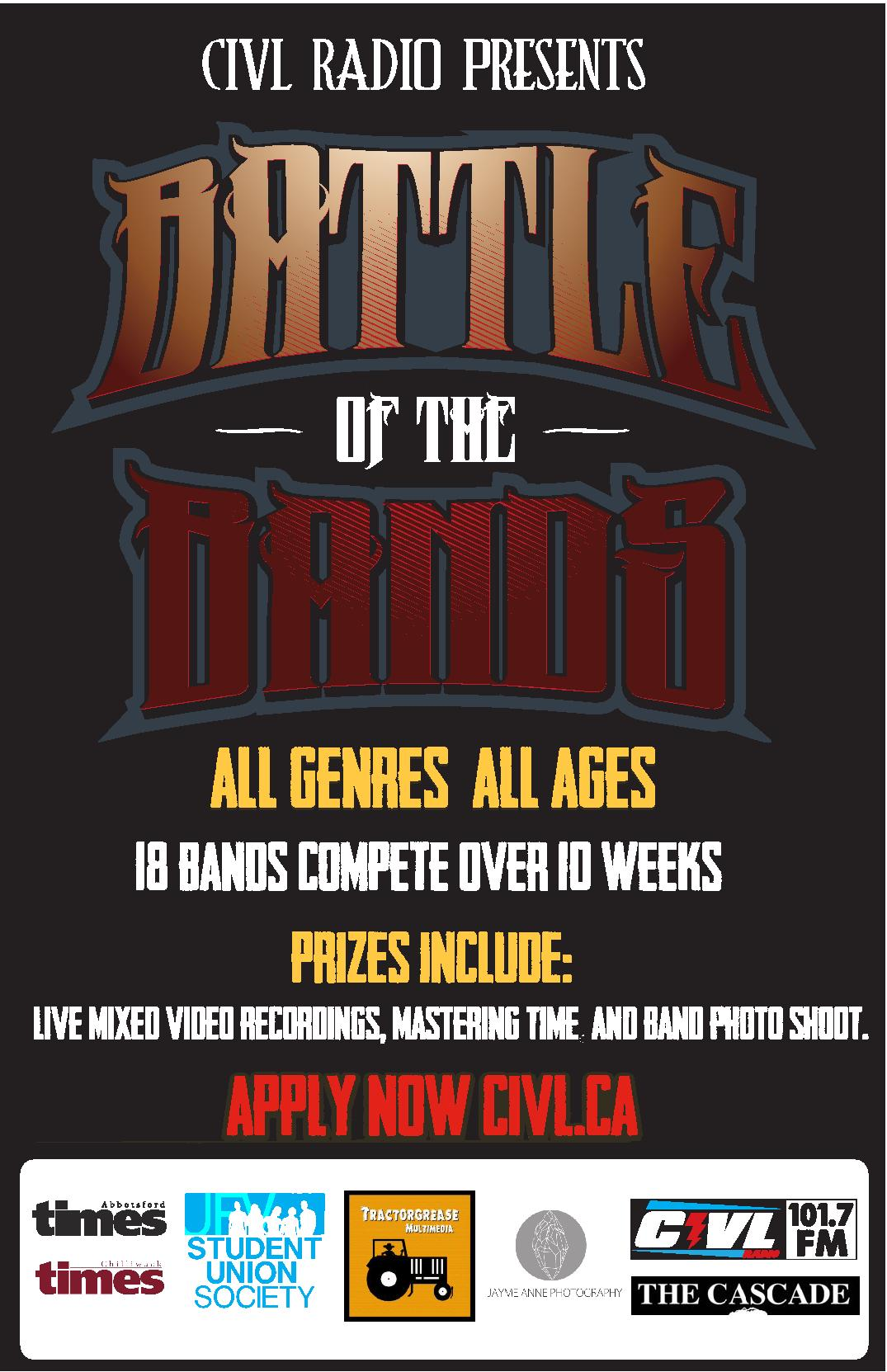 Apply Now! CIVL's Fraser Valley Battle of the Bands